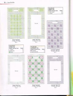 Pattern for luggage tags