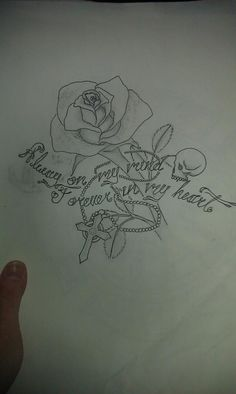 My memorial tattoo i designed for 3 important people I've lost <3