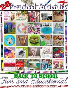 28 Fun and Educational Preschool Activities For Back To School #backtoschool #preschool
