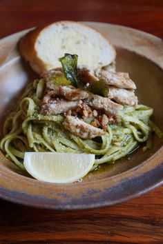 Grilled Chicken and Lime Pesto at Stories by Lilypad Grilled Chicken, Pesto, Grilling, Spaghetti, Lime, Ethnic Recipes, Food, Barbecued Chicken, Limes