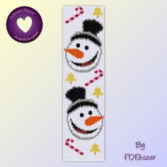 Beadweaving Pattern Peyote / Loom for bracelet: Let it snow, man. - PDF - buy 2 get 1 free mix and match offer - bp286. $6.50, via Etsy.