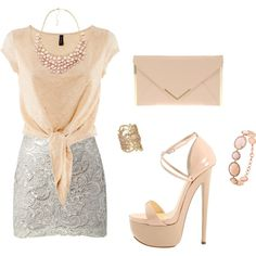 A fashion look from April 2012 featuring H&M t-shirts, Lipsy skirts and Giuseppe Zanotti pumps. Browse and shop related looks.