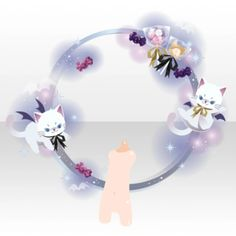 Cat Reference, Hand Accessories, Monster Face, Spring Girl, Cocoppa Play, Anime Animals, Green Wallpaper, Cute Hats, Anime Outfits