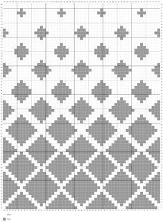 Tapestry Crochet Patterns, Fair Isle Knitting Patterns, Crochet Square Patterns, Crochet Motifs, Knitting Charts, Crochet Chart, Mosaic Patterns, Crochet Stitches, Cross Stitch Patterns