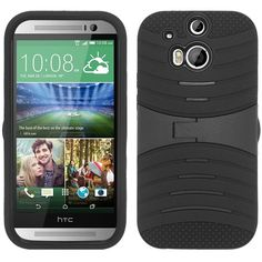 Zizo UCASE Hybrid Protector Stand Case for HTC One M8 - Black