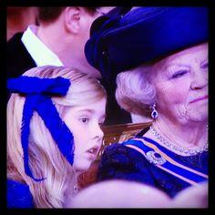 Prinses Amalia and prinses Beatrix