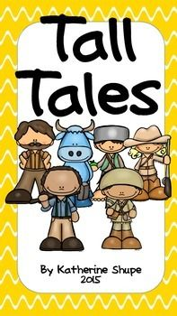 These activities are themed around the tall tales of Johnny Appleseed, Davy Crockett, John Henry, Paul Bunyan, and Annie Oakley. Included in this packet:*Circle map, tree map, and writing paper for each tall tale hero*A center for each hero     * Johnny Appleseed-rhyming words     * Davy Crockett-syllable sort     * John Henry-types of sentences sort     * Paul Bunyan-compound words     * Annie Oakley Tall Tales Activities, Autumn Activities, Art Activities, Fourth Grade Writing, Circle Map, Tree Map, Davy Crockett, Paul Bunyan, Annie Oakley