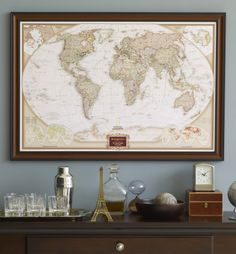 Display your world travels with this personalized push pin map from The New York Times.