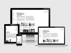 sieger design  Corporate Website, 2013