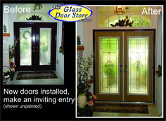 high privacy for the front door with this glass door insert new