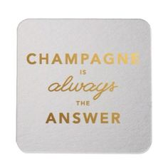 Gold Foil Champagne Coasters | Spotted on Keep