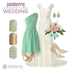 Jamberry offers tons of beautiful nail wraps for the whole wedding party. Be sur… - Coiffures De Mariage Wedding Manicure, Wedding Nails For Bride, Bride Nails, Jamberry Wedding, Gold Wedding, Jamberry Party, Stripe Wedding, Sparkle Wedding, Wedding 2015