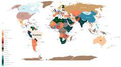 Las búsquedas más habituales en #google x países en un solo mapa http://selnd.com/1JsCyFb
