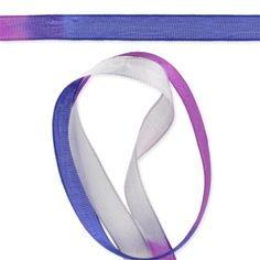 Ruban Tie and Dye 12 mm Violet x 1m