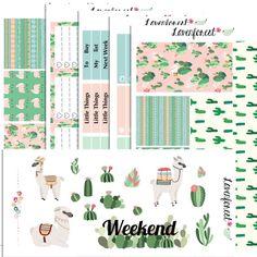 Alpaca planner sticker kit| for erin condren planner stickers| happy planner sticker kit|SK002