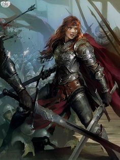 Artist: Unknown - Title: Unknown - Card: Hannah, Exemplifying Loyalty (Avid) #fighter: