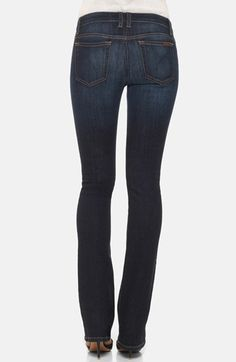 Free shipping and returns on Joe's Curvy Bootcut Jeans (Rikki) at Nordstrom.com. A sleek dark wash colors stretch-cotton jeans cut with a slim bootcut silhouette designed to flatter curvy figures.