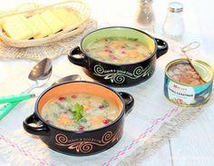 Овощной суп с тунцом и клюквой. Ингредиенты: тунец консервированный, чечевица красная, вода