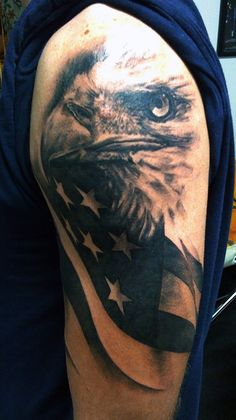 Eagle Tattoo Design Eagle Tattoos Ideas And Meaning Gallery Design Pixel What a patriotic tatoo! Eagles Tattoo, Bald Eagle Tattoos, Future Tattoos, Love Tattoos, Beautiful Tattoos, Body Art Tattoos, Tattoo Drawings, Tattoos For Guys, Tatoos