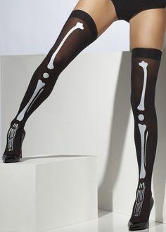 Adult Fancy Dress Ladies Skeleton Stockings