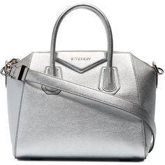 Givenchy small metallic Antigona tote bag ($2,255) ❤ liked on Polyvore featuring bags, handbags, tote bags, metallic, givenchy tote, leather tote purse, leather tote handbags, leather totes and white tote