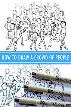 This 3-step method for drawing bustling streets and busy events works for any medium and skill level. Learn how to draw a crowd of people on Craftsy!