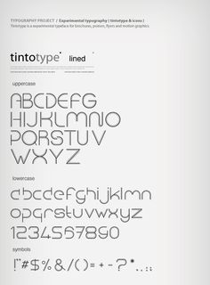 Tintotype is an experimental typeface for brochures, posters, flyers and motion graphics