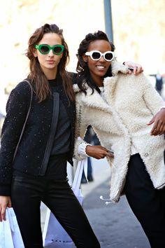 cool shades. #WaleskaGorczevski & Leila #offduty in Milan.