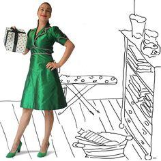 Molly Greenadine, partydress van House of Dots.