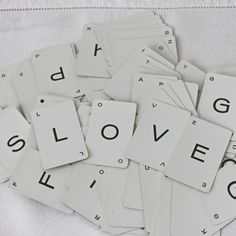 Vintage Alphabet Letter Cards (Custom Words Available) - 10 for $4.00