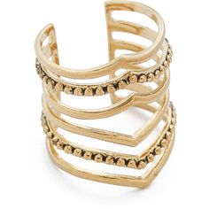 SunaharA Malibu Statement V Ring ($52) ❤ liked on Polyvore