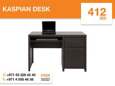 The Kaspian desk is stylish, elegant and has a perfect timeless design perfect for Your Home office. Two convenient drawers will help to hide papers, pencils or other office supplies and pull out keyboard tray gives You plenty of room for all Your hardware and working needs. Sleek wenge oak finish and high-quality chipboard construction will help to make Your Home office look good. More details: http://gtfshop.com/kaspian-desk