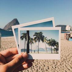 Beach days in polaroid