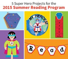 Great project ideas for the 2015 #CSLP Summer Reading Program Every Hero Has a Story.