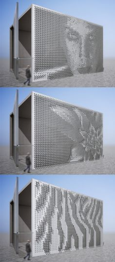 Dynamic Facades by Eduard Haiman, via Behance