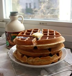 these this morning. Aretha Frankenstein's waffles of insane greatness ...