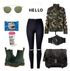 """Untitled #1146"" by giselaturca on Polyvore featuring MSGM, Dr. Martens, 3.1 Phillip Lim, Proenza Schouler, Triwa, Lisa Perry and Hollister Co."