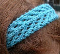 Ravelry: Arrowhead Lace Headband pattern by Tamara Stone-Snyder Knitting Designs, Knitting Patterns Free, Knitting Projects, Crochet Projects, Crochet Patterns, Lace Knitting, Crochet Lace, Crochet Hair Accessories, Crochet Headband Pattern