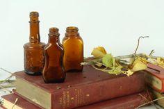 Vintage Amber Bottles // Medicine Bottle by AutumnHouseVintage, $20.00 Vintage Love, Vintage Items, Amber Bottles, Medicine Bottles, Decoration Piece, Beautiful Curves, Decorative Items, Collection, Etsy