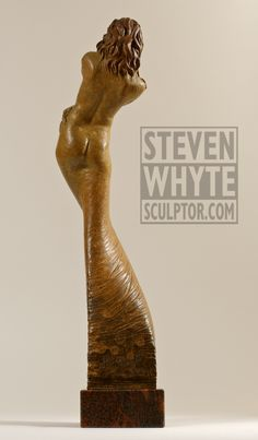 'Coy' from the 'Stance' series. Bronze Figurative sculpture by sculptor Steven Whyte, Carmel, California. Www.facebook.com/stevenwhytecarmel