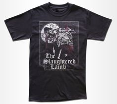 The Slaughtered Lamb T Shirt - Cult Retro Horror T Shirt - Graphic Tees For Men, Women & Children by StrangeLoveTees on Etsy https://www.etsy.com/uk/listing/103065354/the-slaughtered-lamb-t-shirt-cult-retro