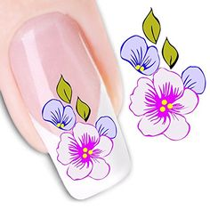 Generic Nail Art Tips Stickers False Nail Design Manicure Decals Nail Art Water Nail Art Decal Tattoo Sticker Water decal nail art transfers. For use with natural or false nails. Very easy to apply and remove. 3d Nail Art, Nail Art Hacks, Nail Art Tools, Cool Nail Art, Water Nail Art, Water Nails, Gel Acrylic Nails, 3d Nails, Diy Sticker