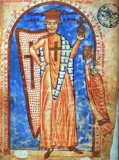 Federico Barbarossa in una miniatura di un manoscritto risalente al 1188