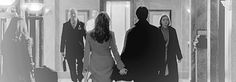 GIF - castle and beckett skipping down the hall
