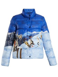 Moncler Brethil ski scene-print quilted-down jacket 04f8a95d1