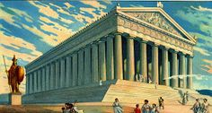 """Liebig's Beef Extract """"Scenes of Ancient Athens"""" German issue, 1933 The Parthenon Parthenon, Paris, Album, Athens, Greece, Louvre, World, Building, Outdoor Decor"""