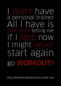 Ain't that the truth! It's hard to get back once you stop. Especially with a 6 month old... No more excuses!