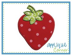 Strawberry Applique.  How cute would this be with the words...Berry Sweet?!?!