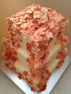 Waterfall of flowers All buttercream cakes By:Arty Cake