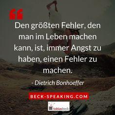 """JETZT FÜR EIN BEWOHNERFREIES LEBEN ANKLICKEN!----------------------  """"Den größten Fehler, den man im Leben machen kann, ist, immer Angst zu haben, einen Fehler zu machen. - Dietrich Bonhoeffer"""